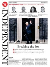 The Independent front page for 9 September 2020