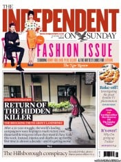 The Independent on Sunday (UK) Newspaper Front Page for 14 October 2012