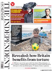 The Independent on Sunday (UK) Newspaper Front Page for 1 March 2015