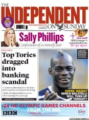 The Independent on Sunday (UK) Newspaper Front Page for 1 July 2012