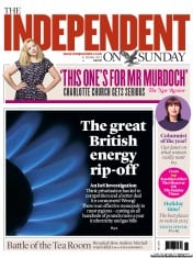 The Independent on Sunday () Newspaper Front Page for 21 October 2012