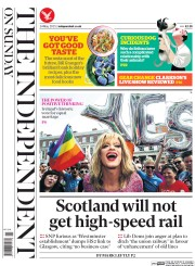 The Independent on Sunday (UK) Newspaper Front Page for 24 May 2015