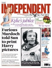 The Independent on Sunday (UK) Newspaper Front Page for 26 August 2012