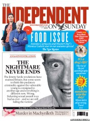 The Independent on Sunday () Newspaper Front Page for 7 October 2012