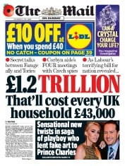 The Mail on Sunday (UK) Newspaper Front Page for 10 November 2019