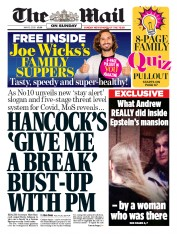 The Mail on Sunday (UK) Newspaper Front Page for 10 May 2020
