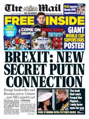 The Mail on Sunday (UK) Newspaper Front Page for 10 June 2018