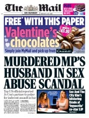 The Mail on Sunday (UK) Newspaper Front Page for 11 February 2018