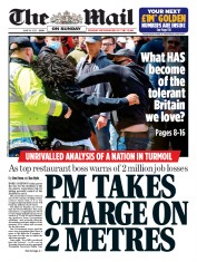 The Mail on Sunday front page for 14 June 2020