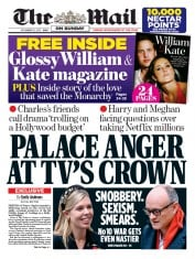 The Mail on Sunday front page for 15 November 2020