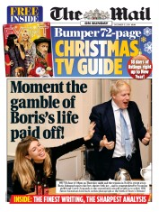 The Mail on Sunday (UK) Newspaper Front Page for 15 December 2019