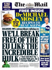 The Mail on Sunday () Newspaper Front Page for 15 September 2019