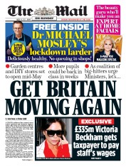 The Mail on Sunday front page for 19 April 2020