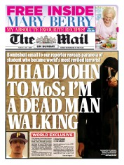 The Mail on Sunday (UK) Newspaper Front Page for 1 March 2015