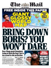 The Mail on Sunday (UK) Newspaper Front Page for 1 September 2019