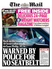 The Mail on Sunday (UK) Newspaper Front Page for 20 January 2019