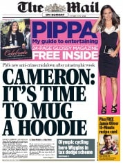 The Mail on Sunday () Newspaper Front Page for 21 October 2012