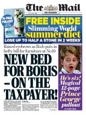 The Mail on Sunday (UK) Newspaper Front Page for 21 July 2019