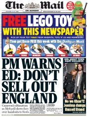 The Mail on Sunday (UK) Newspaper Front Page for 21 September 2014