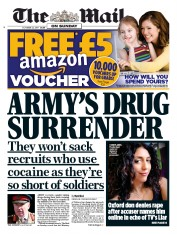 The Mail on Sunday (UK) Newspaper Front Page for 22 October 2017