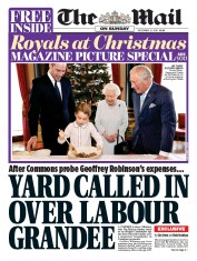 The Mail on Sunday (UK) Newspaper Front Page for 22 December 2019