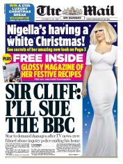 The Mail on Sunday (UK) Newspaper Front Page for 23 November 2014