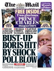 The Mail on Sunday (UK) Newspaper Front Page for 23 June 2019