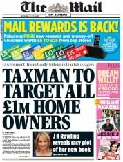 The Mail on Sunday Newspaper Front Page (UK) for 23 September 2012