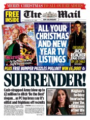 The Mail on Sunday (UK) Newspaper Front Page for 24 December 2017