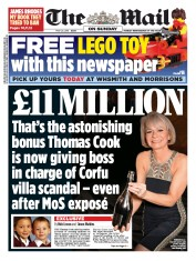 The Mail on Sunday (UK) Newspaper Front Page for 24 May 2015