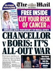 The Mail on Sunday (UK) Newspaper Front Page for 24 September 2017