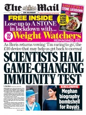 The Mail on Sunday (UK) Newspaper Front Page for 26 April 2020