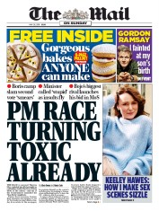 The Mail on Sunday (UK) Newspaper Front Page for 26 May 2019