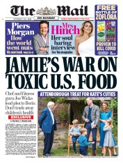 The Mail on Sunday front page for 27 September 2020