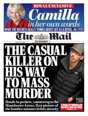 The Mail on Sunday (UK) Newspaper Front Page for 28 May 2017