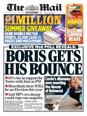 The Mail on Sunday (UK) Newspaper Front Page for 28 July 2019