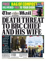The Mail on Sunday (UK) Newspaper Front Page for 29 March 2015