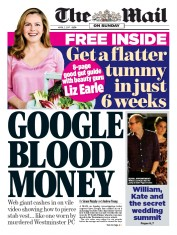 The Mail on Sunday (UK) Newspaper Front Page for 2 April 2017