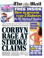The Mail on Sunday (UK) Newspaper Front Page for 30 June 2019