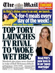 The Mail on Sunday front page for 30 August 2020