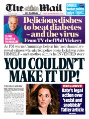 The Mail on Sunday (UK) Newspaper Front Page for 31 May 2020