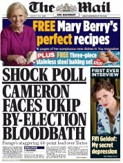 The Mail on Sunday (UK) Newspaper Front Page for 31 August 2014