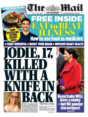 The Mail on Sunday () Newspaper Front Page for 3 March 2019