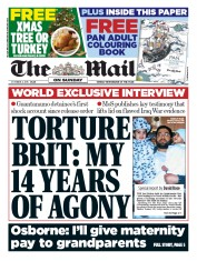 The Mail on Sunday (UK) Newspaper Front Page for 4 October 2015