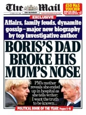 The Mail on Sunday front page for 4 October 2020