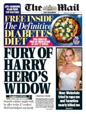 The Mail on Sunday (UK) Newspaper Front Page for 4 February 2018