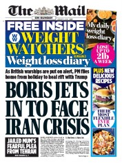 The Mail on Sunday () Newspaper Front Page for 5 January 2020
