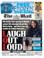 The Mail on Sunday (UK) Newspaper Front Page for 5 July 2015