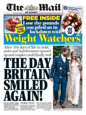 The Mail on Sunday front page for 5 July 2020
