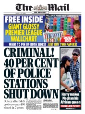 The Mail on Sunday (UK) Newspaper Front Page for 6 August 2017